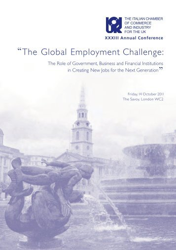 """The Global Employment Challenge: - The Italian Chamber of ..."