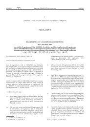 Regolamento (CE) n. 846/2009 della Commissione, del ... - EUR-Lex