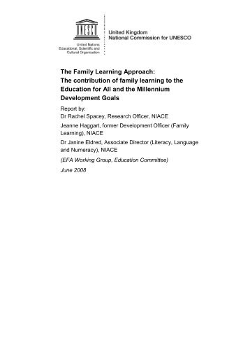 The Family Learning Approach - UK National Commission for ...