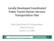 Locally Developed Coordinated Plan Workshop - The Community ...