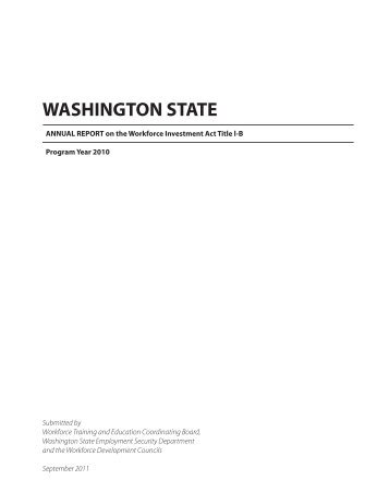 washington state - Workforce Training and Education Coordinating ...