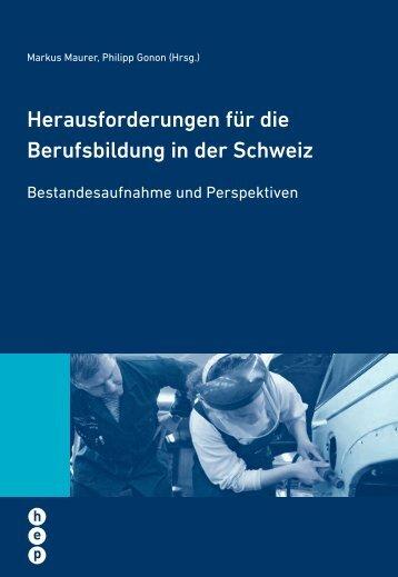 Herausforderungen für die Berufsbildung in der Schweiz