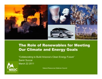 The Role of Renewables for Meeting Our Climate ... - Sonoran Institute