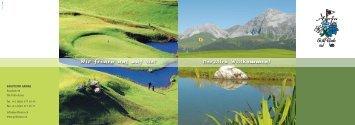 Wir freuen uns auf Sie! Herzlich Willkommen! - Golf Club Arosa