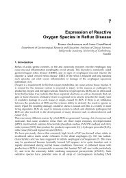 7 Expression of Reactive Oxygen Species in Reflux Disease