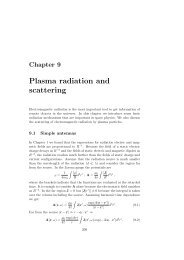 Plasma radiation and scattering