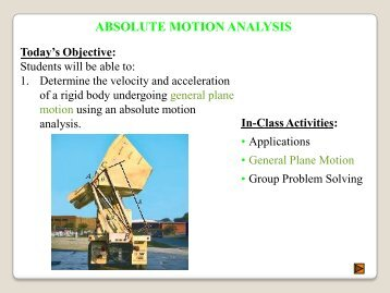 Lecture Notes for Section 16.4 (Absolute Motion Analysis)