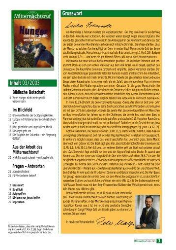 MNR 2003-03.pdf - Missionswerk Mitternachtsruf