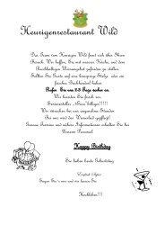 Speisekarte als PDF herunterladen - Restaurant Wild in Wien