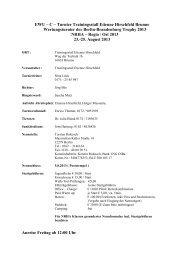 EWU – C – Turnier Trainingsstall Etienne Hirschfeld ... - Wittelsbuerger