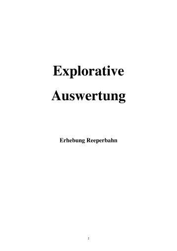 Explorative Auswertung