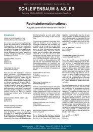 Ausgabe Mai 2013, gewerblich - Schleifenbaum & Adler