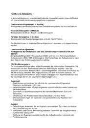 Funktionelle Osteopathie - vdms