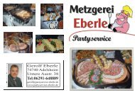 Metzgerei - Partyservice Eberle