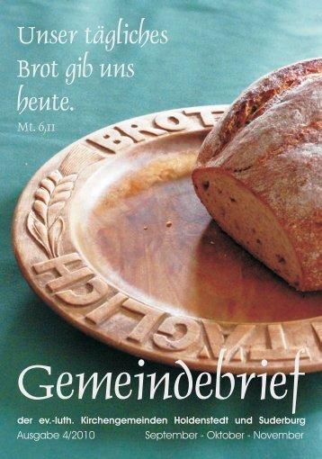 Ausgabe 4-2010 - Ev.-luth. St. Remigius Kirchengemeinde Suderburg