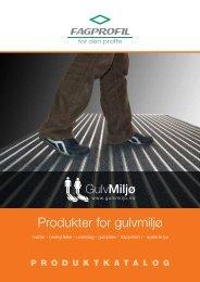Produkter for gulvmiljø - Fagprofil