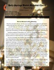 Newsletter - Holly Springs United Methodist Church