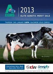 ELITE GENETIC MERIT SALE - Dairy Livestock Services