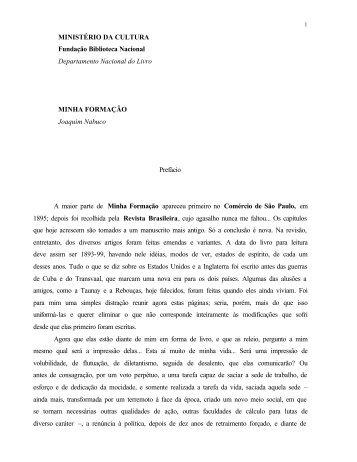 MINISTÉRIO DA CULTURA Fundação Biblioteca Nacional ...