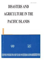 disasters and agriculture in the pacific islands - Pacific Disaster Net