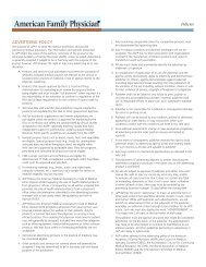Policies - American Academy of Family Physicians