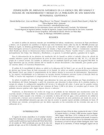 zonificación de amenazas naturales en la cuenca del río samalá y ...