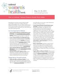 How to Celebrate National Women's Health Week Online