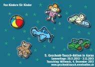 5. Geschenk-Tausch-Aktion in Aarau