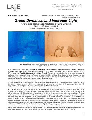 GROUP DYNAMICS PRESS RELEASE - LACE