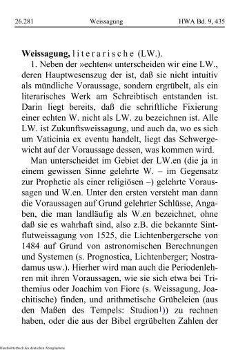 Weissagung - Schauungen.de