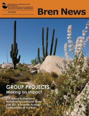 Bren News - Bren School of Environmental Science & Management ...