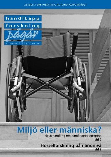 20 51155_Hfp_2_2007.pdf - Centrum för forskning om funktionshinder