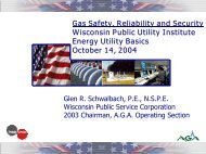 Natural Gas Safety, Reliability & Security - Wisconsin Public Utility ...