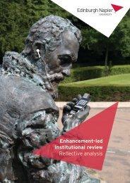 Reflective Analysis - Staff intranet - Edinburgh Napier University