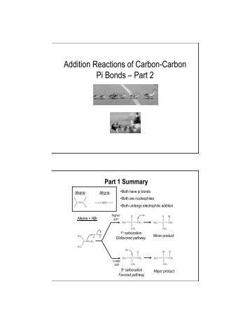 Addition Reactions of Carbon-Carbon Pi Bonds – Part 2