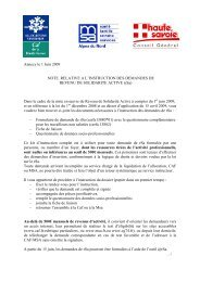 Note instruction - Conseil Général de Haute-Savoie