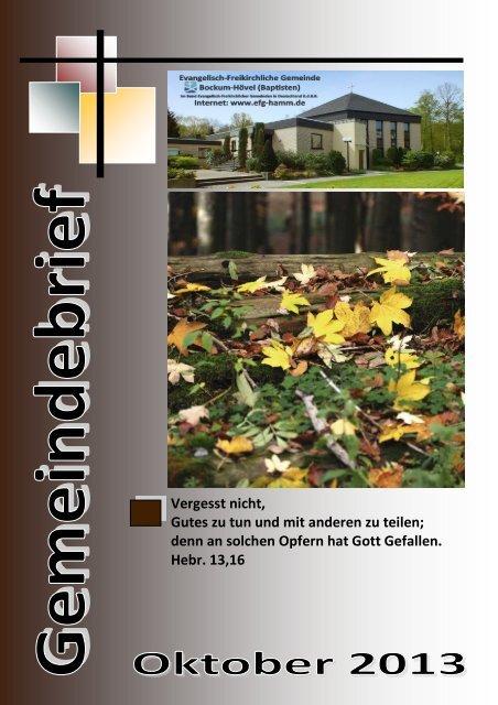 Gemeindebrief Oktober 2013 - EFG Hamm Bockum-Hövel
