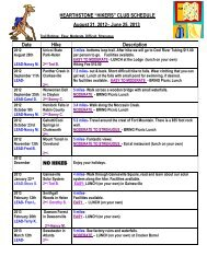 Hearthstone Hiking Schedule 2012-2013 - Forsyth County ...