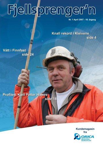 Fjellsprengern Nummer 1_2007.pdf - Orica Mining Services