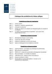 Catalogue des prestations du réseau syllogos