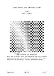Sensation, Perception, Action – An Evolutionary Perspective ...
