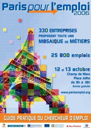 liste des postes proposés par métier et par employeur - Paris pour l ...