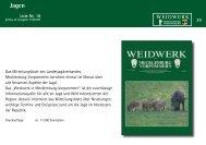 Jagen - Paul Parey Zeitschriftenverlag