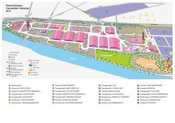 Übersichtsplan Cannstatter Volksfest 2013