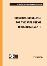 Practical Guidelines for the Safe Use of Organic ... - Business.govt.nz