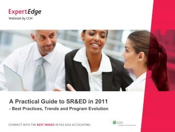A Practical Guide to SR&ED in 2011 - CCH Canadian