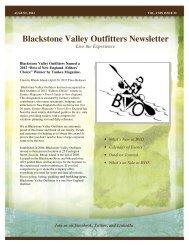 Blackstone Valley Outfitters Newsletter - Rhode Island Canoe ...