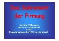 Firm-Paten-Abend - Pfarreiengemeinschaft Utting-Schondorf