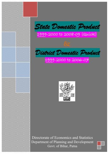 District Domestic Product - Directorate of Economics and Statistics