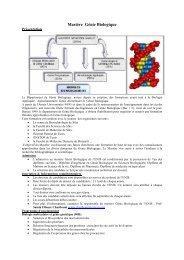 Mastère Génie Biologique - Ecole Nationale d'ingénieurs de Sfax
